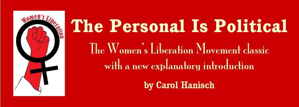 the personal is political the original feminist theory paper at title
